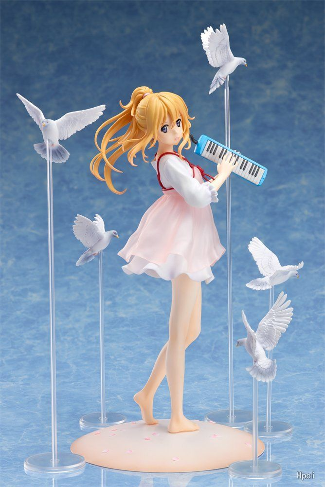 20cm your lie in april kaori miyazono Action Figure Anime Doll PVC New Collection figures toys brinquedos Collection цена