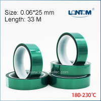 5 rolls 25mm width Green PET Adhesive Tape High Temperature for PCB Solder Shielding