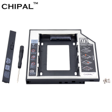 CHIPAL Universal SATA 3.0 2nd HDD Caddy 12.7mm for 2.5″ 1TB SSD HDD Case Enclosure + LED Indicator for Notebook CD-ROM DVD-ROM