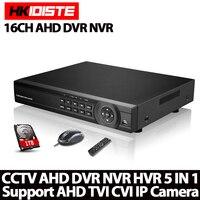 16ช่องAHD DVR 1080จุดDVR 16CH AHD AHD-H 1920*1080 MPกล้องวงจรปิดบันทึกวิดีโอDVR NVR CVI TVI HVR 5 In 1ระบบรักษาความปลอดภัย