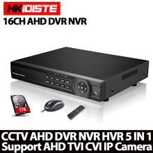 16 Channel AHD DVR 1080P DVR 16CH AHD AHD-H 1920*1080 2.0MP CCTV Video Recorder DVR NVR CVI TVI HVR 5 In 1 Security System