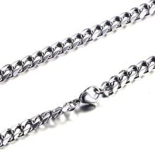 Granny Chic stainless steel wholesale men necklace man accessories women punk hip hop jewelry male curb cuban link chains chic y shaped chains necklace jewelry for women