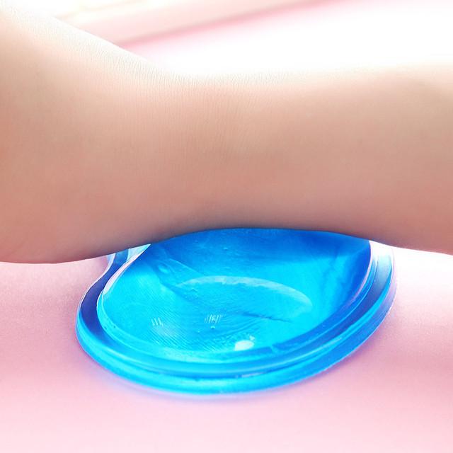 Cute Mini Gel Silicon Wrist Rest Mouse Pad Heart-shaped Soft Wrist Pad Transparent Ergonomic Healthy Non-slip Gaming Mousepad
