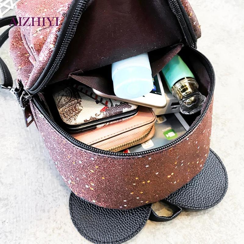 82f920fedb58f Aliexpress.com : Buy Shining Sequins Women Cute Small Backpacks PU Leather  School Bags Girls Princess Shoulder Bag 2018 New Fashion Female Backpack  from ...
