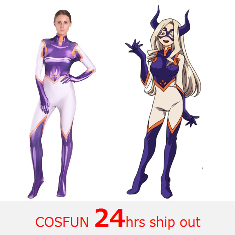 24 Hrs Ship Out MtLady My Hero Academia Cosplay Costumes Anime MtLady Bodysuits Halloween Costumes party dress