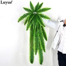 Luyue 110cm Plant Grass Green Artificial Plants Leaf Hanging Vine Fern Leaves Flower Decorative Grass Persian Wedding&Home Decor