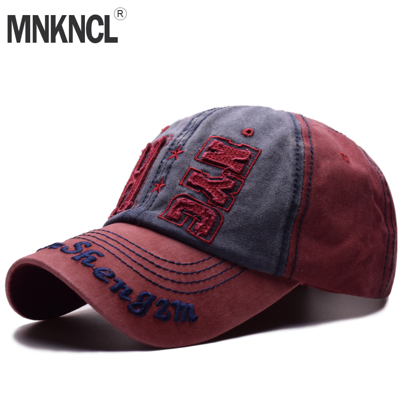 MNKNCL 2018 New Retro Washed Baseball Cap Fitted Cap Snapback Hat For Men Bone Women Gorras Casual Casquette Letter <font><b>NYC</b></font> Cap image