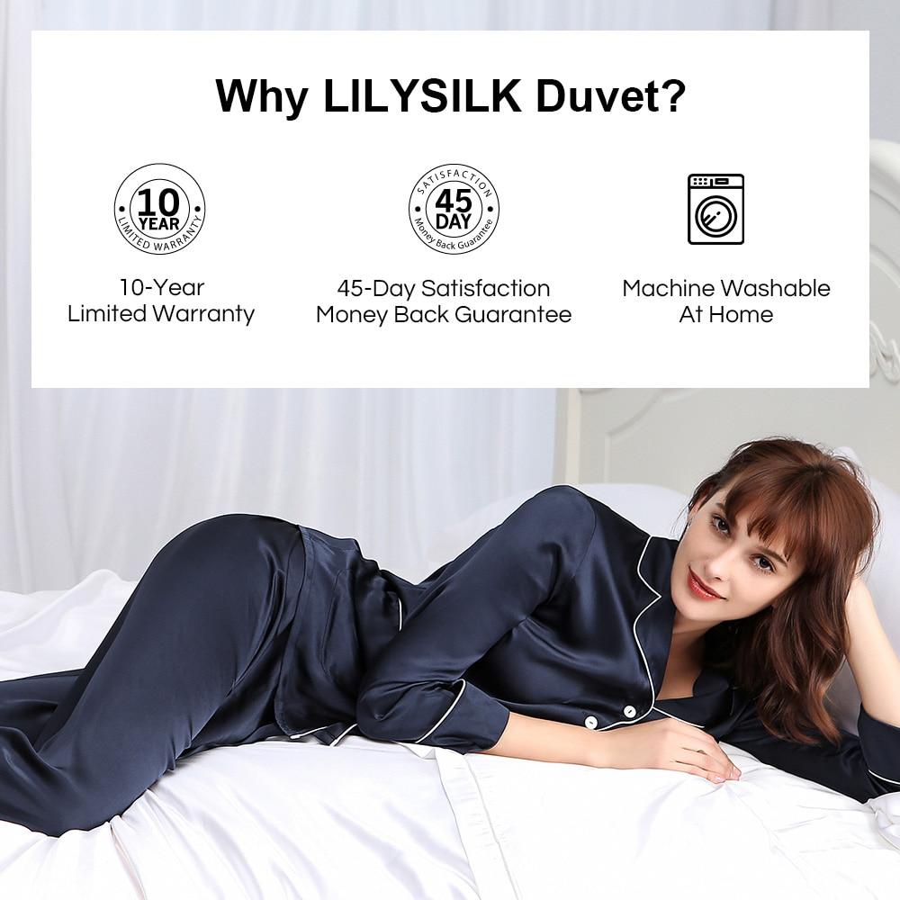 Image 5 - LilySilk Comforter Duvet Silk Washable Cotton Covered 100 pure and natural long strand silk floss Free Shippingsilk comfortersilk flosspure silk comforter -
