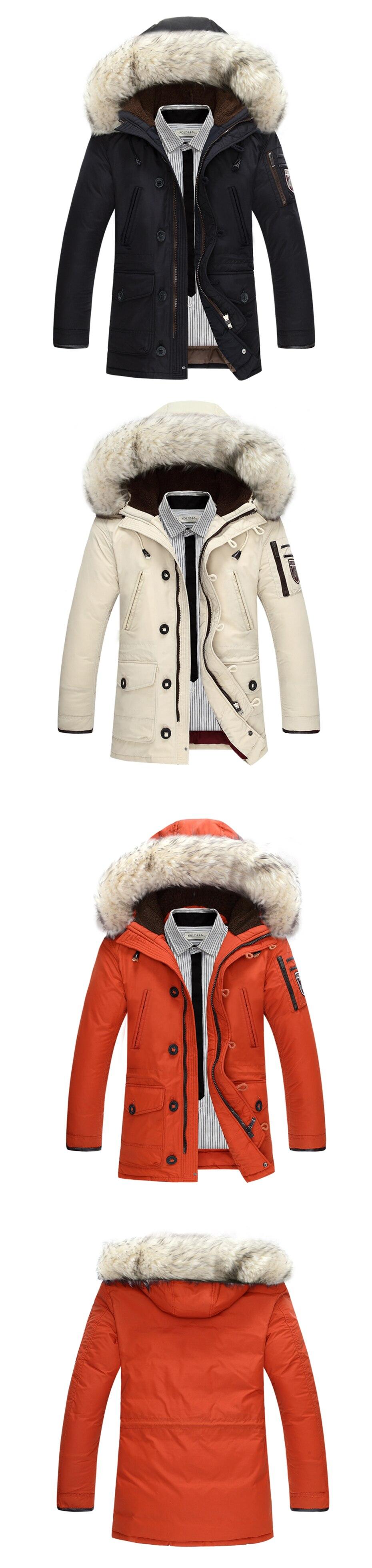 8082f380642 Asesmay Luxury Brand Winter Men Down Jackets Goose Down Mens White Parkas  With Fur Hood Men Deniem Russian ...