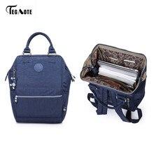 602d489d6a03 TEGAOTE Нейлоновый Рюкзак школьников сумка для девочек-подростков мальчиков  рюкзаки уличный стиль рюкзак для ноутбука