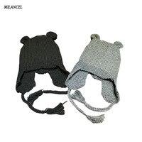 Winter Baby Knit Hat Cute Bear Ear Boy Girl Kids Warm Hat Cap 3 Colors For