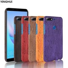 Para Huawei Honor 7C funda de teléfono de cuero duro de PU para Huawei Honor 7C funda de teléfono de doble grano cubierta trasera