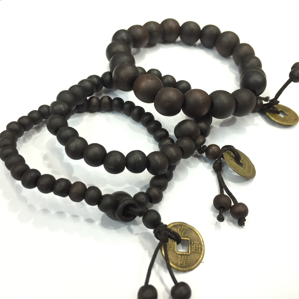 Buddhist Tibetan Decor Prayer beads Natural Handmade Bracelet Bangle Wrist Ornament Wood Buddha Beads Women Men Jewelry