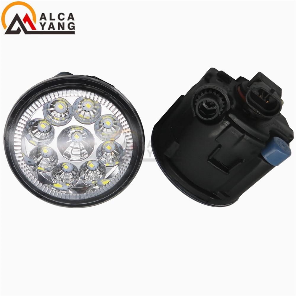 Malcayang Angel Eyes 6000K CCC 12V car-styling DRL Fog Lamps lighting LED Lights 55W /1 SET for NISSAN JUKE 2010+2015 car styling halogen fog lights fog lamps for nissan fuga 2004 12v 1 set