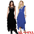 L- 6XL Long Dresses Lace Plus Size Vestidos Longos Big Size Women Clothing Fashion Sleeveless Dress 5XL Maxi Dress Slim Waist xl