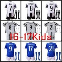 Gtt Hot Sales 2017 Top Best Qualit Juventuses Soccer Jersey KIDS Kit Socks 16 17 Home