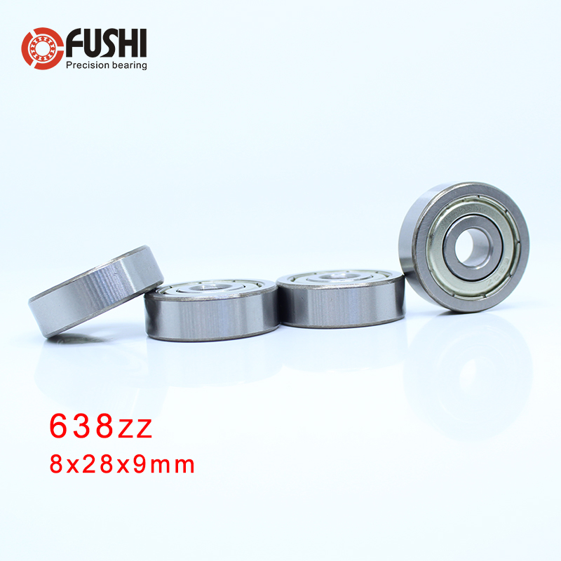 638ZZ Bearing 8*28*9 mm ( 4 Pcs ) ABEC-1 Grade 638Z Miniature 638 ZZ Ball Bearings