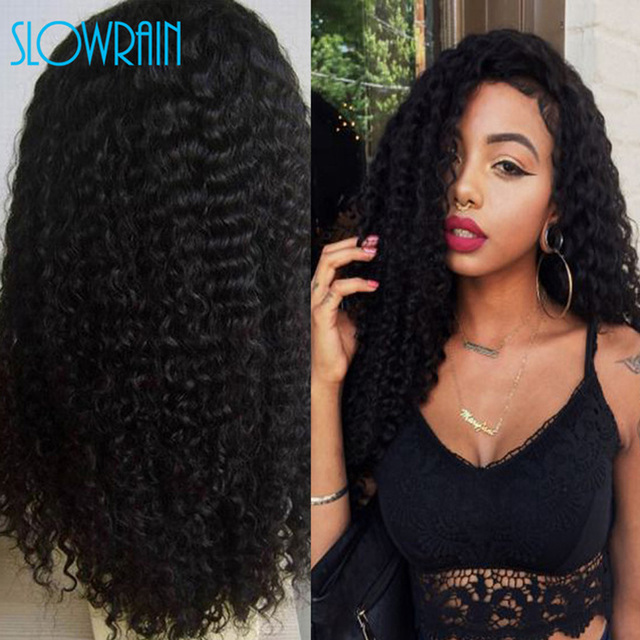 130% Density Human Hair Full Lace Wig Afro Kinky Curly Wig For Black Women Unprocessed Brazilian Virgin Hair Lace Front Wigs