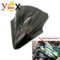 Standard Motorcycle New Black Windscreen Windshield Deflector Front Glass For Kawasaki Ninja 650 2017 Ninja650 17