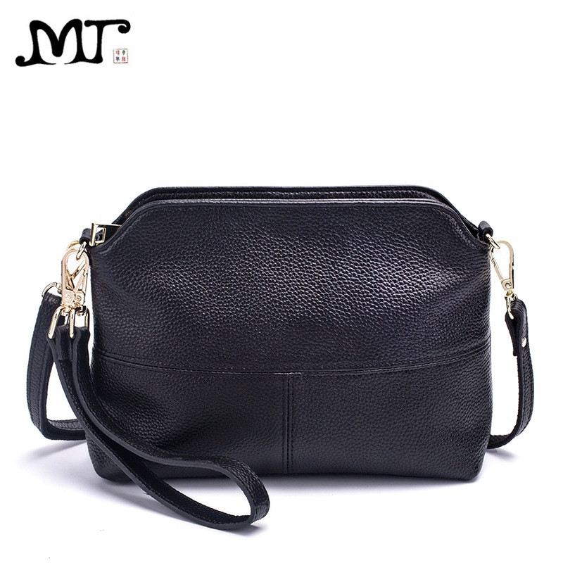 MJ Brand Women Bags Fashion Genuine Leather Messenger Bag Small Cross Body Shoulder Bag Elegant Shell Bags Ladies Day Clutches mj brand design women genuine leather bags fashion real cowhide leather shoulder bag lady small cross body bucket messenger bag