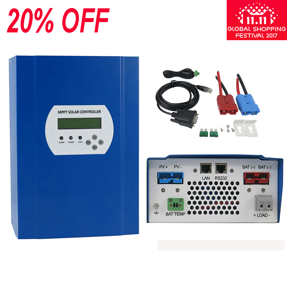 12v 24v 48v Auto 60a Mppt Solar Battery Panel Charge Controllers Pwm Mode 6a Small Control Ce Controller Regulator 700w Or 1400w 2800w With Rs232 Lan Communication In From