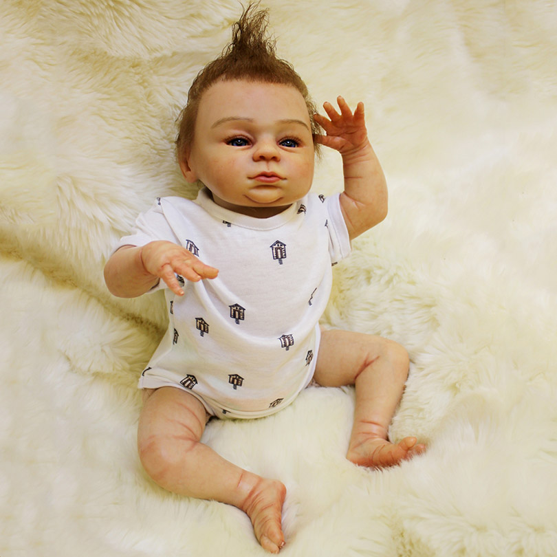 Fashion High-End Handmade Dolls New Born Bedtime Toys For Child Gifts of Birthday Dolls Pacifier Realistic Dolls about 55cm