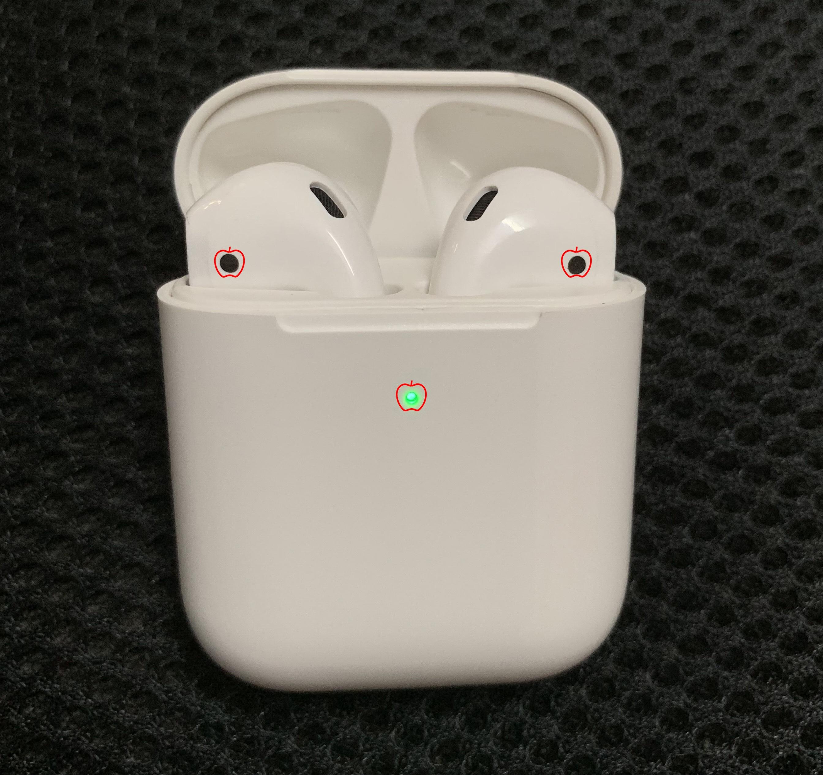 Nouveau 1:1 taille 2st generat sans fil écouteur bluetooth casque sans fil charge avec W1 puce animée fenêtres popup