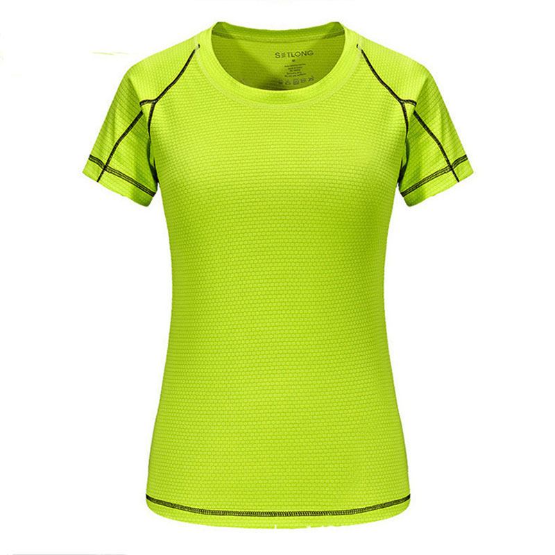 Polo shirt round neck outdoor sports T-shirt ladies quick dry solid color clothing short-sleeved fitness quick-drying clothes