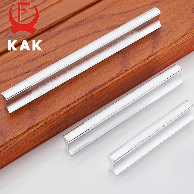 KAK Kitchen Cabinet Handles Drawer Pulls Aluminum Alloy Door Knobs Holder Case Box Puller Stick Furniture Handle Hardware megairon aluminum alloy door knobs and handles kitchen drawer wardrobe cabinet cupboard pull handle 96 160mm silvery color pulls