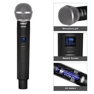 Image 2 - Lomeho LO V52 2 Way VHF Metal Handheld Transmitter Dynamic 2 channels Church Conference Karaoke Party DJ Wireless Microphone