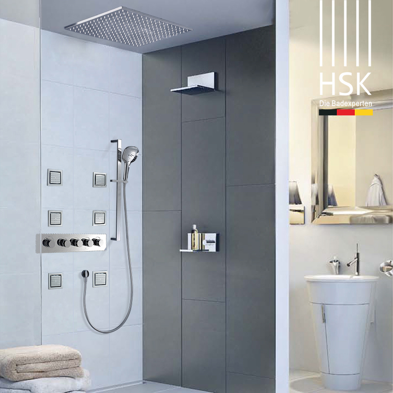 HSK thermostatic shower curtain concealed ceiling imperial type ceiling shower set temperature