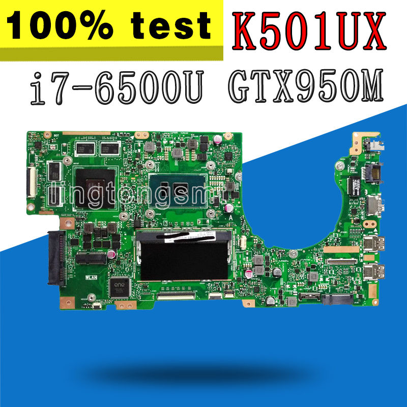 K501UX Laptop Motherboard For ASUS K501U A501U K501UX K501UB Mainboard K501UX Motherboard i7 6500U GTX950M video