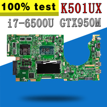 K501UX материнская плата для ноутбука ASUS K501U A501U K501UX K501UB материнская плата K501UX материнская плата i7-6500U GTX950M видеокарта 4 Гб оперативной памяти