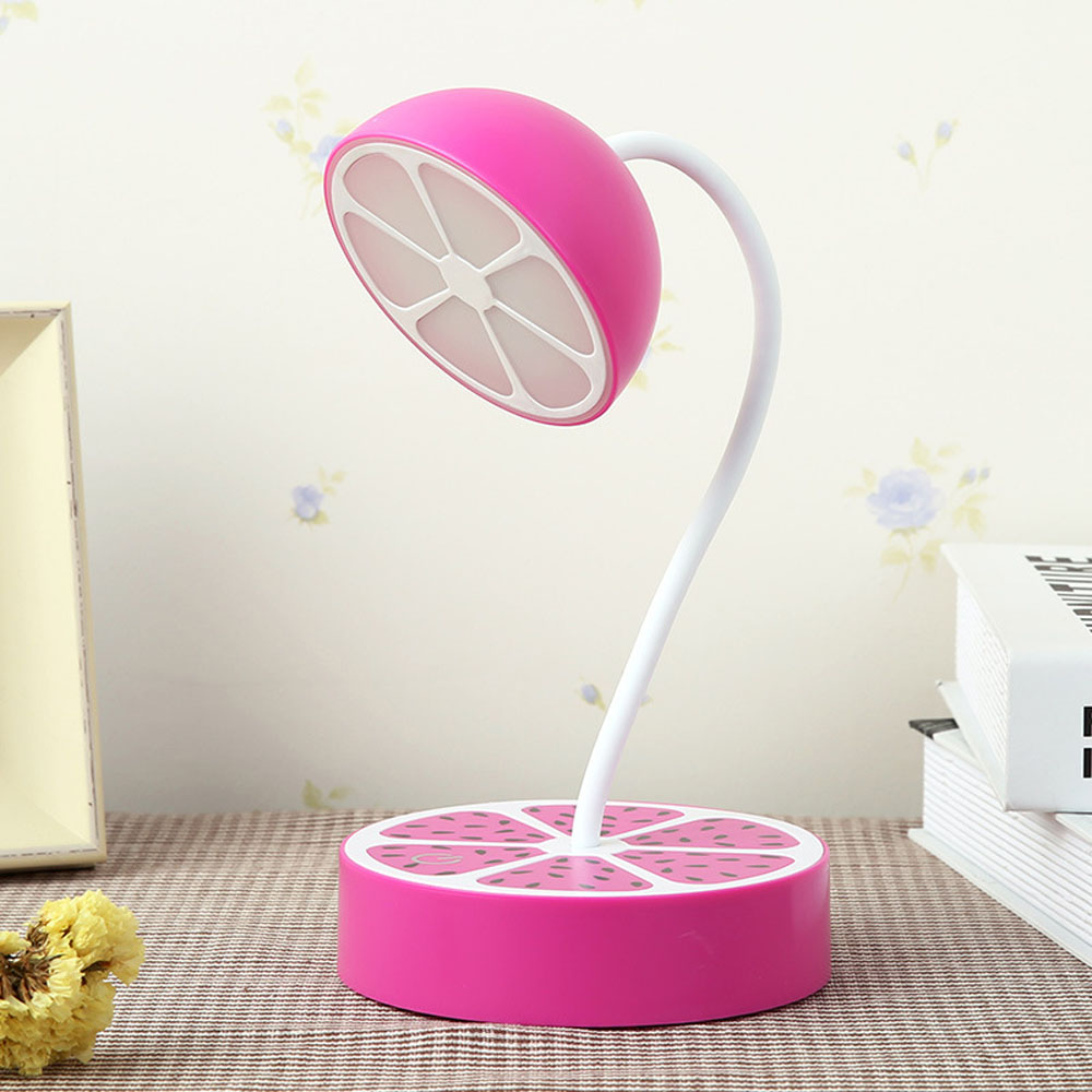 ФОТО Top USB Touch Table Lamp 110V-220V Table Lights Yellow Purple Orange Three-color LED Child Student Bedroom Reading Bed Light