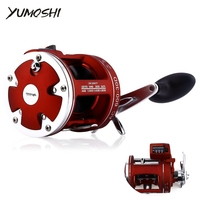 YUMOSHI 12BB HighSpeed Fishing Reel ACL 30/50D 3.8:1/5.2:1 Electric Depth Counting Left /Right Hand Multiplier Body Cast Drum