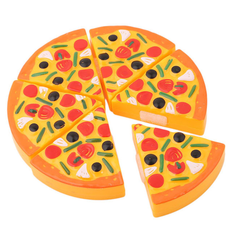 Children Kids Kitchen Toy Pizza Party Fast Food Slices Cutting Pretend Play Toy For Kids Gift