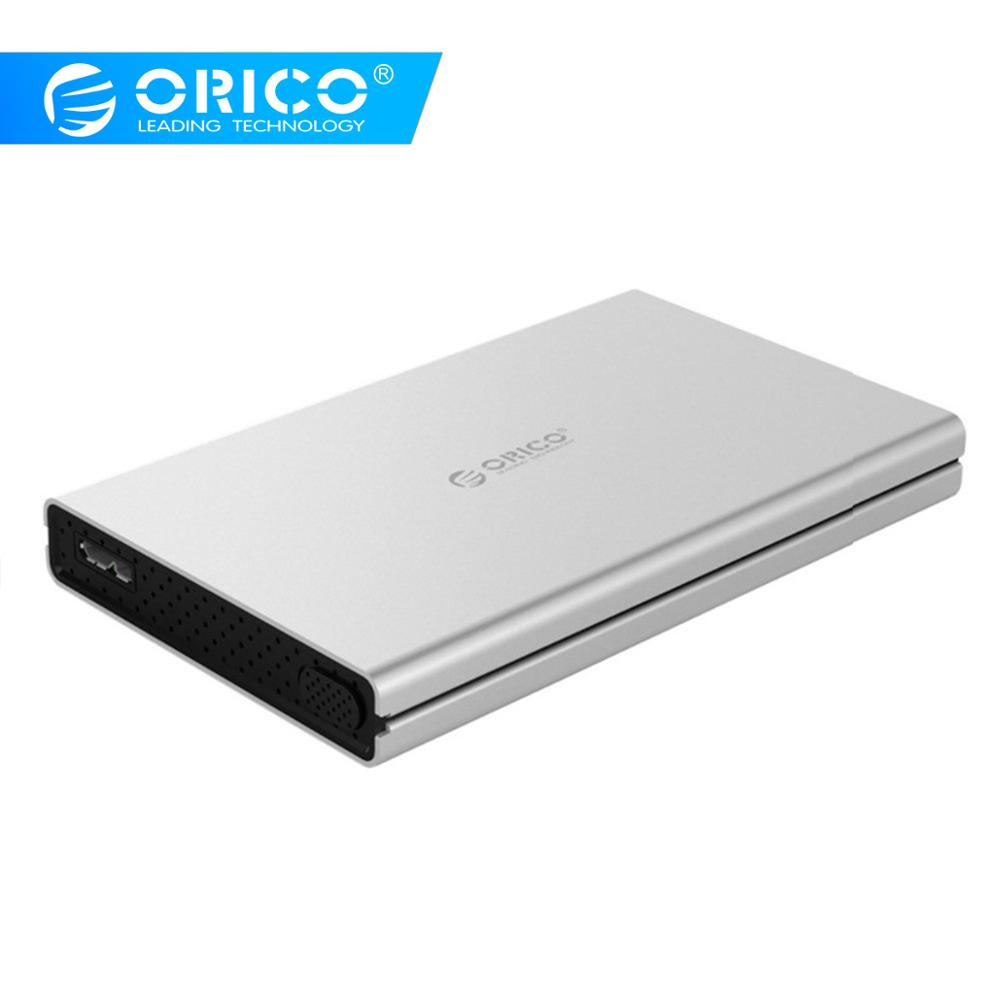 ORICO 2.5 Inch Aluminum Alloy USB3.0 To SATA3.0 5Gbps 2.5 Inch Hard Drive Enclosure Support UASP For Windows 7 8 10 Mac OS Linux