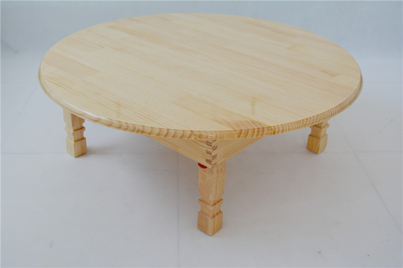 Aliexpresscom buy solid pine wood folding round table for Round pine coffee table