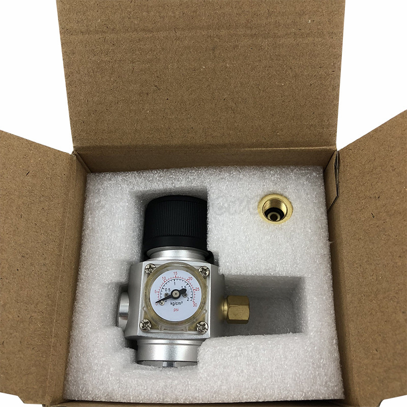 Homebrew CO2 Mini Gas Regulator 30PSI with 38 thread For Beer Brewing (2)