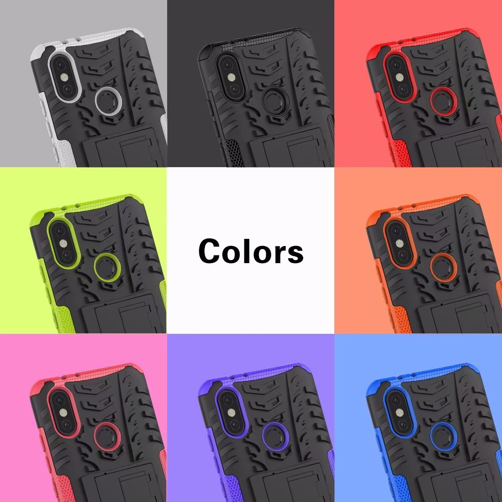 Heavy Duty Armor Slim Hard Tough case for Xiaomi 6X Hybrid 2 in 1 PC TPU Rugged Kickstand Shockproof Coque Cover Shell Mi A2 in Fitted Cases from Cellphones Telecommunications