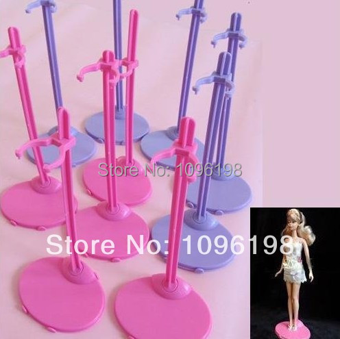 Free shipping, 50 pcs/lot hot selling Doll Stand Display Holder For Barbie Dolls/Monster High dolls-in Dolls Accessories from Toys & Hobbies    2