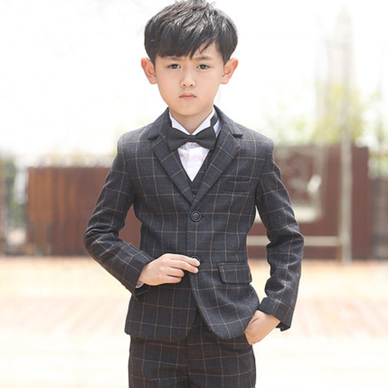 2018(Jackets+Vest+Pants+Shirts+bow tie)Boy Suits Flower girl Slim Fit Tuxedo Brand Fashion Bridegroon Dress Wedding Suits Blazer цены онлайн