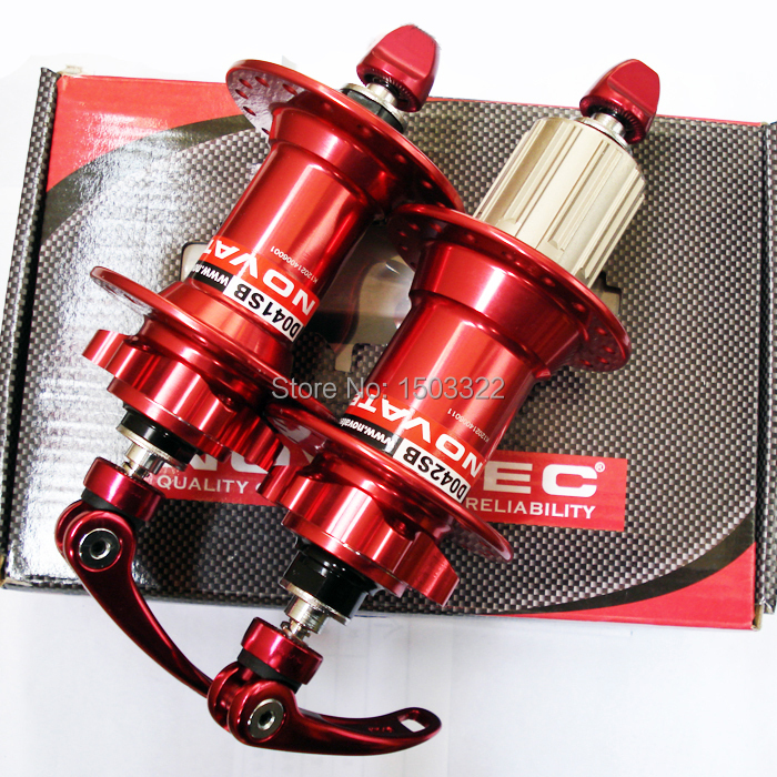 Hot Novatec D041SB D042SB disc card brake MTB mountain bike hub bearing bicycle hubs 24 28 32 36 Holes 24h 28h 32h 36h red black ultralight bearing hubs mtb mountain bicycle hubs 32 holes 4 bearing quick release lever mountain bike disc brake parts 4colors