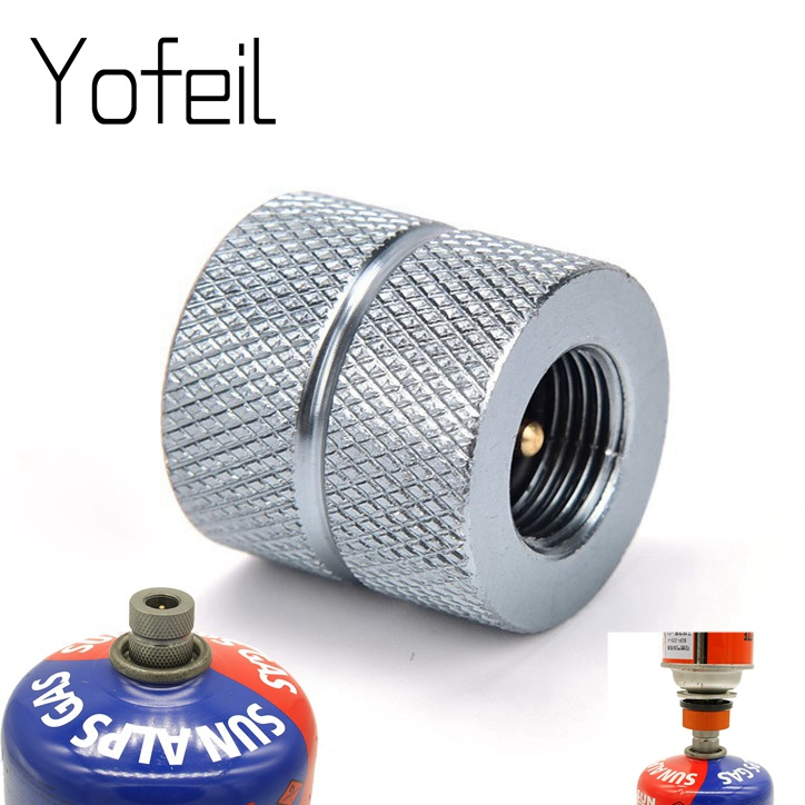 Outdoor Camping Butane Stove Gas Refill Adapter Cartridge Gas Nozzle Bottle Type Cartridge Screw Type Valve Canister Connector