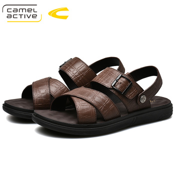 Camel Active 2019 New Genuine Leather Quick-Dryin Sandals Summer Quality Casual Sneakers Anti-Slippery Outdoor Beach Shoes 19361