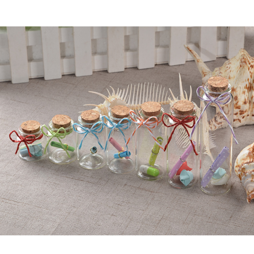 Image 3 - Mini Bottle with Cork Stopper 10ml 15ml 20ml 25ml 30ml 40ml 55ml Empty Bottles Containers Jars Vial idea for Wedding Gift 50pcs-in Bottles, Jars & Boxes from Home & Garden