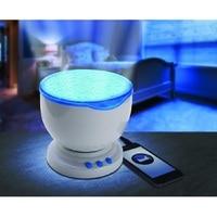 1 Pc Led Night Light Projector Ocean Daren Waves Projector Projection Lamp With Speaker Ocean Waves master Brand New
