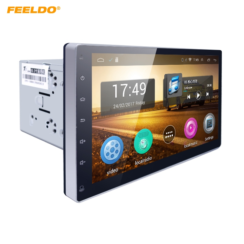 FEELDO 10.2inch HD Screen Android 4.4.2 Quad Core Car Media Player With GPS Navi Radio For Universal 2DIN ISO #AM1221 feeldo 7inch android 4 4 2 quad core car media player with gps navi radio for nissan hyundai universal 2din iso gift am3900
