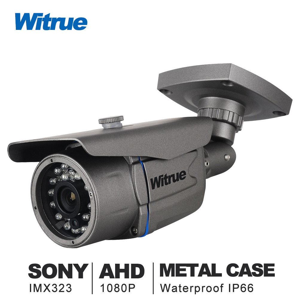 Witrue Mini Surveillance Camera Sony IMX323 AHD Camera1080P 20M Night Vision CCTV Camera IR Outdoor Waterproof Security Camera smar outdoor bullet ip camera sony imx323 sensor surveillance camera 30 ir led infrared night vision cctv camera waterproof