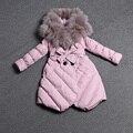 Hot Sale Women Down Coat Winter Long Warm Down Jacket Winterjas Dames Female Clothing Fur Collar Coats Free Shipping